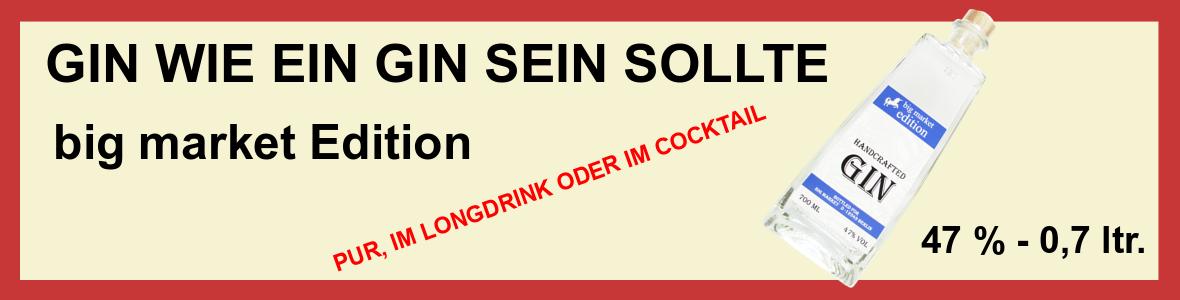 Werbung - big market Gin